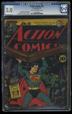 Action Comics #50 CGC GD 2.0 Cream To Off White DC Superman