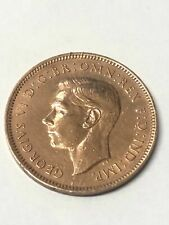 1942 Great Britain George VI 1 Farthing  Coin