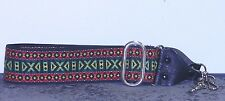 1970's Hippie Camera Strap with Red Green Variation of Traditional Pattern A1635