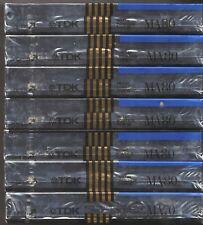 7 TDK MA-70, MA-80 AUDIO CASSETTE TAPE; JAPAN, TYPE IV, METAL, FACTORY SEALED