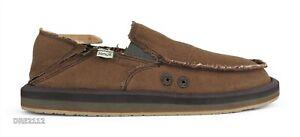 Sanuk Vagabond ST Soft Top Hemp Brown Shoes Mens Size 11