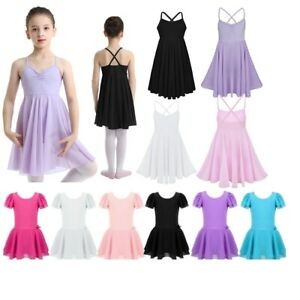 US Girls Toddler Ballet Lyrical Ballet Dress Leotards Skirt Gymnastics Dancewear