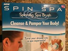 Spin Spa Spinning Spa Brush Cleanse & Pamper Your Body 5 Attachments New/Sealed