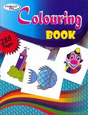 A4 288 PAGE JUMBO CHILDRENS COLOURING BOOK Learning Fun Arts & Craft Therapy Kid