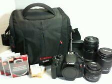 Canon Rebel T5i camera bundle 18-55mm, 55-250mm, 50mm, filters, 2 batteries, bag