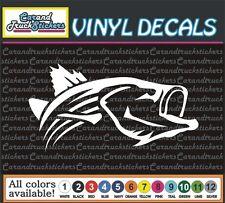 "Striper Striped bass fishing Fish Truck Car Vinyl Decal window sticker 12"" wide"