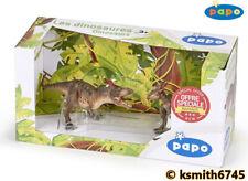 Papo STYGIMOLOCH & GORGOSAURUS plastic toy prehistoric animal DINOSAUR SET