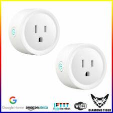 3 pin wireless Smart Plug 2x Socket Outlet WiFi 10a Works With Alexa&google Home Bsd01