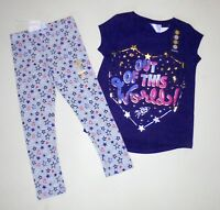 Gymboree Girls Hearts Stars Leggings Tee 4 NWT