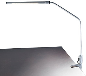 Lavish Home Contemporary Clamp LED Desk Lamp, Silver 41""