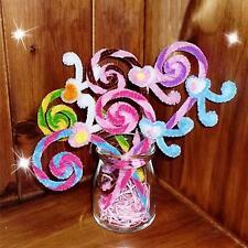 100pcs Kids Handmade Art Craft Plush Sticks Educational DIY Shilly-Stick Gifts