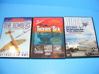 Lot of 3 WWII DVD Collection Tigers of the Sea, Dive Bombers, Wings Over Water