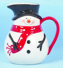 Christmas Tableware Ceramic Snowman Jug Milk Jug Sauce Jug Pitcher NEW