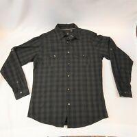 J. FERRAR Men's Long Sleeve 100% Cotton Checked Button Down Shirt size Large-NWT