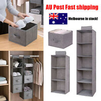 Hanging Clothes Shoe Storage Shelves Boxes Foldable Household Drawer Organizers