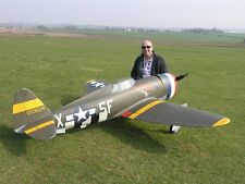 Giant  P-47D  Thunder Bolt Enlarged to 1/4 Scale Model AIrplane Printed Plans