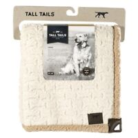 Tall Tails Embossed Bone Beige Cream Brown Sherpa 40 x 60 Soft Throw Blanket