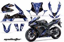 AMR Racing Graphics Decal Wrap Kit Yamaha R1 Street Bike 2004-2005 HATTER BLACK