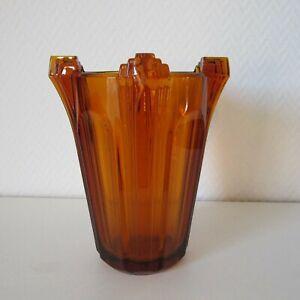 Antike bernsteinfarbene massive 20,3 cm Art Deco Vase um 1920/1930 - 2862/2029