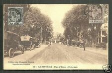 Port Louis Place d'Armes Cars Mauritius Maurice stamps 1910
