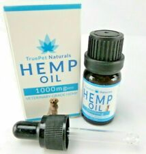 TruePet Naturals Hemp Oil, Veterinary Grade, 1000mg, 10 ml w/ Dosing Dropper NIB