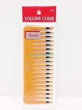 "ANNIE VOLUME COMB #206 6"" LONG 2.5"" WIDE  TOOTH PLASTIC COMB FOR VOLUME"