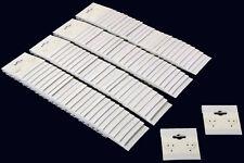 100 Plain White Earring Hanging Cards