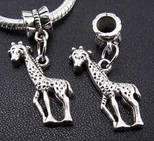 6X Tibetan Silver Giraffe Pendants Dangle Charms Bead Fit European Bracelet New