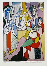 Pablo Picasso ARTIST WITH SCULPTURE Estate Signed & Numbered Small Giclee Art
