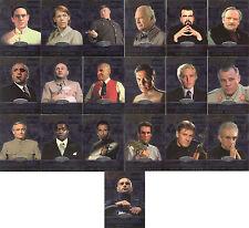 """James Bond 40th Ann - """"Bond Villains"""" Set of 19 Chase / Insert Cards #BV001-19"""