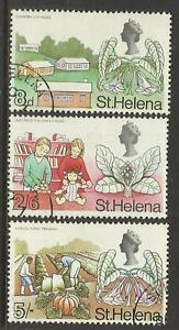 ST HELENA 1968 PICTORIAL DEFINITIVES 8D 2/6D 5/- VALUES ONLY 3v FINE USED
