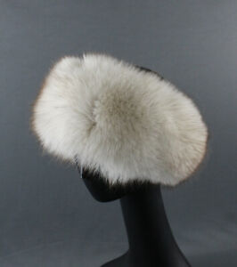 Eric Javits Women's White Fox Fur Winter Headband Head Wrap