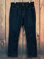 J.Crew Jeans The Bleecker Mens Sz 34 x 32 (act 36 X 32) Dark Straight Leg Cotton