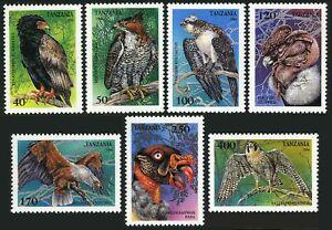 Tanzania 1279-1285,1286,MNH.Michel 1854-1860,Bl.260. Raptors 1994.Falcon