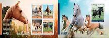 UGN14201ab Uganda 2014 Caballos caballos chevaux MNH JUEGO