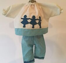 VINTAGE TAGGED 2 PC VOGUE GINNY DOLL PANTS OUTFIT WITH FELT APPLIQUES