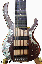 Antoniotsai -Planet inlay handmade-Mexico Bocote Elec 7 strings Guitar Bass 3545