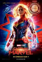 NEW CAPTAIN MARVEL ORIGINAL OFFICIAL CINEMA IMAX MOVIE FILM PRINT PREMIUM POSTER