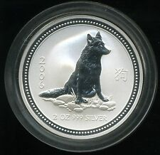 Australia 2006 $2 Lunar Series I Year of the Dog 2 oz .999 Silver