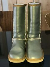 Ugg Australia Rare Metallic Gold Classic Tall Womens Uggs US Sz 6 Excellent Cond