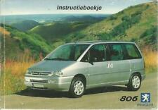 PEUGEOT 806 Instructieboekje 2001  Betriebsanleitung Handboek dutch BA
