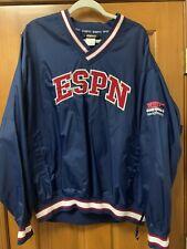 Walt Disney World ESPN Club Embroidered Windbreaker Pullover Jacket. Size XL