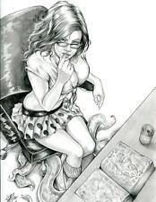 DAVE MILLER original published art, Cover of Compendium, 9x12, David, 2014