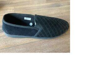 MS466A black mens gents house bedroom shoe  bathroom slipper size  8  11 12  16