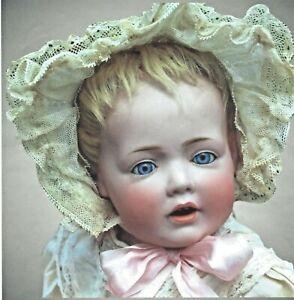 """15.5"""" 16"""" RARE Antique KESTNER 245 HILDA Wigged CHARACTER DOLL Baby ORIGINAL WIG"""