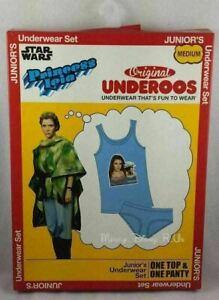 Neuf Disney Star Wars Princesse Leia Underoos Sous Chemise & Slip Ensemble S-2XL