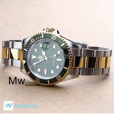 Reginald Lujo homenaje Submariner Acero Inoxidable Cuarzo Reloj suizo de hombre verde