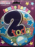 Boys 2nd Birthday GIANT BADGE * CAR DESIGN * Age 2 Birthday Party *Hook on clip