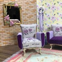 1:12 Dollhouse miniature shabby-chic armchair