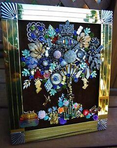 Vintge Jewelry Art Tree of life, signed & framed